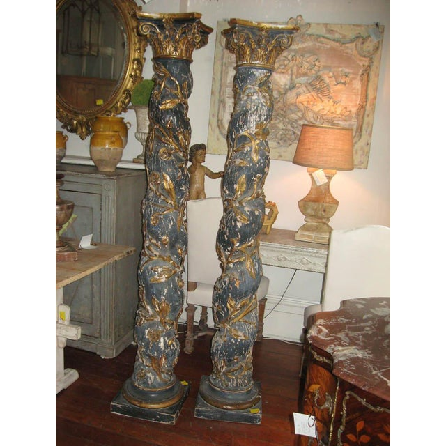 Pair of 17th Century Columns For Sale - Image 4 of 12