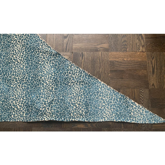 Traditional Cowtan & Tout Blue Leopard Cut Velvet Fabric For Sale - Image 3 of 10