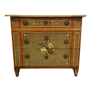 Italian Style Vintage Hand Painted Heritage Co. Chest of Drawers For Sale