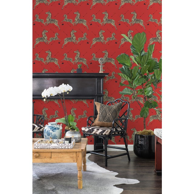Peel & Stick vinyl wallcovering. 6 yd, 30.75 square feet. Now you can own a piece of Scalamandré's history and this iconic...