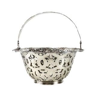 Tiffany & Co. Makers Sterling Silver Flower Basket #16201, John C. Moore For Sale