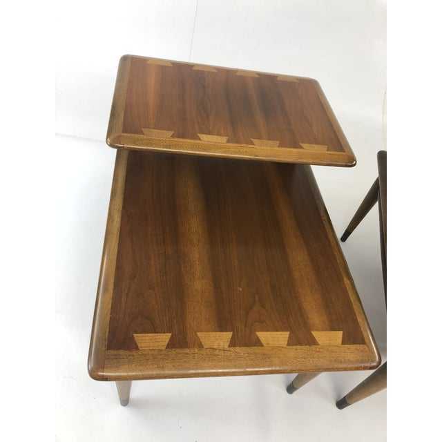 Contemporary Vintage Mid Century Modern Step Tables - a Pair - Acclaim by Lane Furniture For Sale - Image 3 of 13