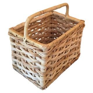 Rectangular Wicker Basket With Handle