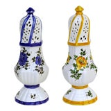 Image of 20th Century Italian Meiselman Ceramic Salt and Pepper Shakers - a Pair For Sale