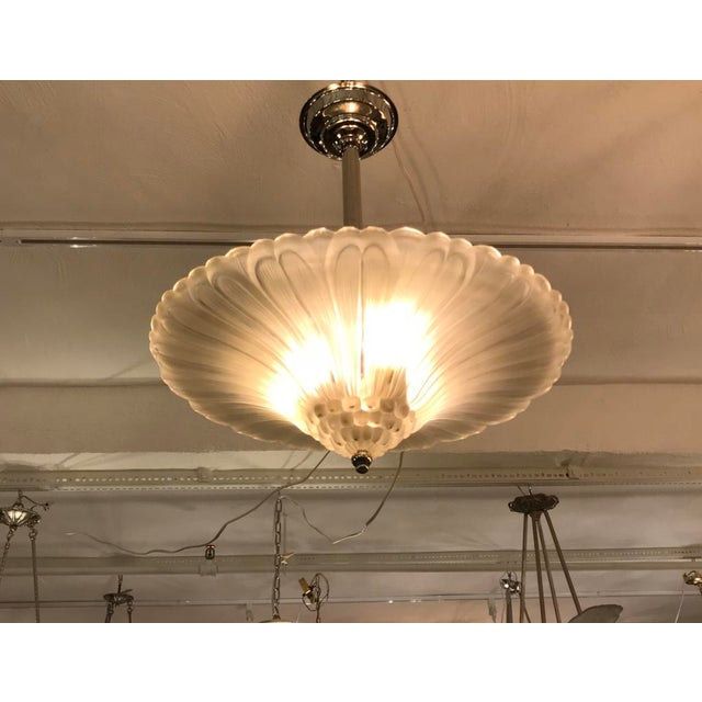 French Art Deco Chandelier by G Leleu For Sale - Image 11 of 12