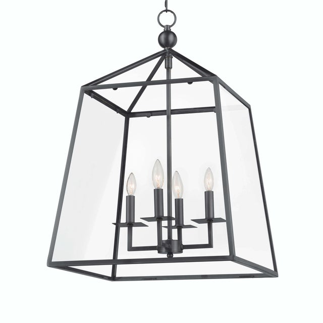 Metal Cachet Lantern in Oil Rubbed Bronze For Sale - Image 7 of 7