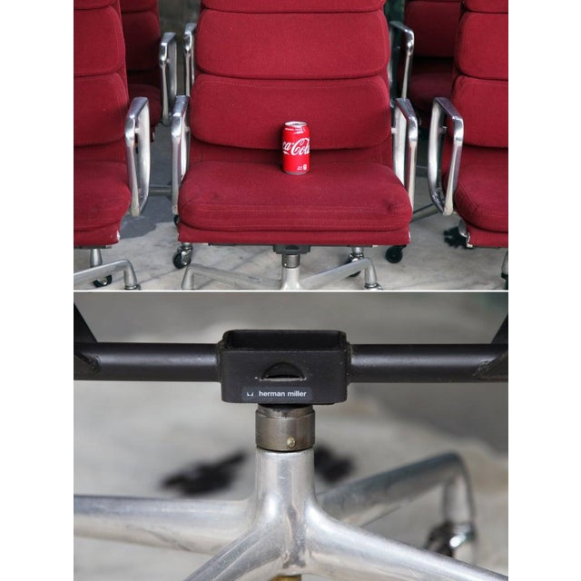 1970s Eames Herman Miller Aluminum Soft Pad Reclining Executive Lounge Chairs - Set of 8 For Sale - Image 9 of 11
