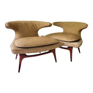 1950s Vintage Karpen of California Horn Chairs- a Pair For Sale