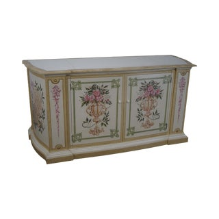 Venetian Style Hand Painted Mechanical TV Lift Cabinet For Sale