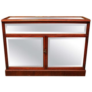 19th Century Display Case in Mahogany For Sale