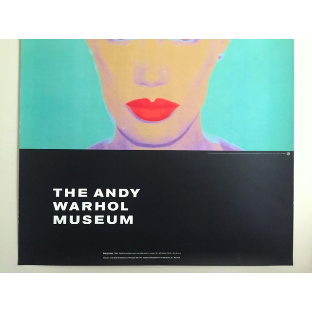 "Islamic Andy Warhol Museum Rare Lmtd Edtn Lithograph Print Monumental Pop Art Poster "" Grace Jones "" 1986 For Sale - Image 3 of 13"