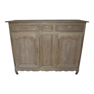 Early 19th Century French Country Bleached Buffet For Sale