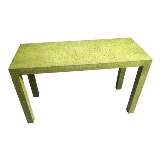 Mid Century Green Modern Side Table For Sale