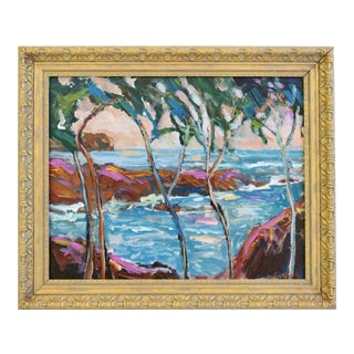 "Original Juan ""Pepe"" Guzman, California Plein Air Seascape Landscape Painting"