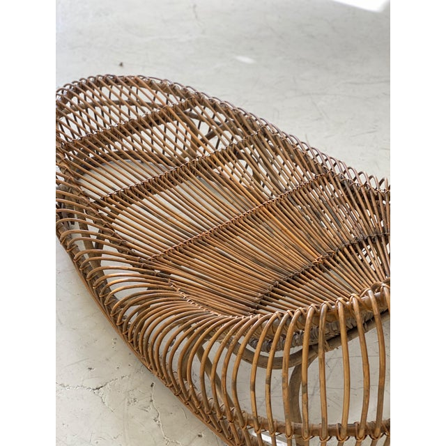 Boho Chic Vintage Franco Albini Bamboo Chaise Lounge For Sale - Image 3 of 6