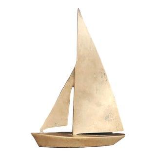 Vintage Brass Sailboat Figurine For Sale