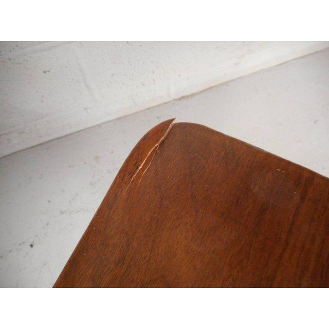 Brown Vintage Modern Walnut Nightstands - A Pair For Sale - Image 8 of 9