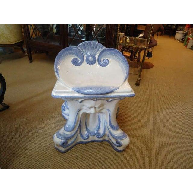 Prime 1940S Vintage Italian Glazed Terracotta Garden Stool Pabps2019 Chair Design Images Pabps2019Com