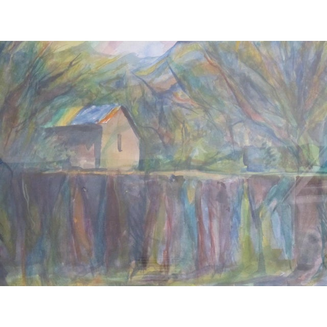 Mid-Century Watercolor Landscape by J. Quint - Image 3 of 7