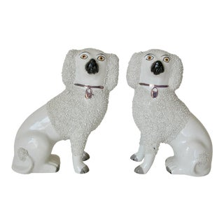 Late 19th Century Antique Staffordshire Dog Figurines - A Pair For Sale