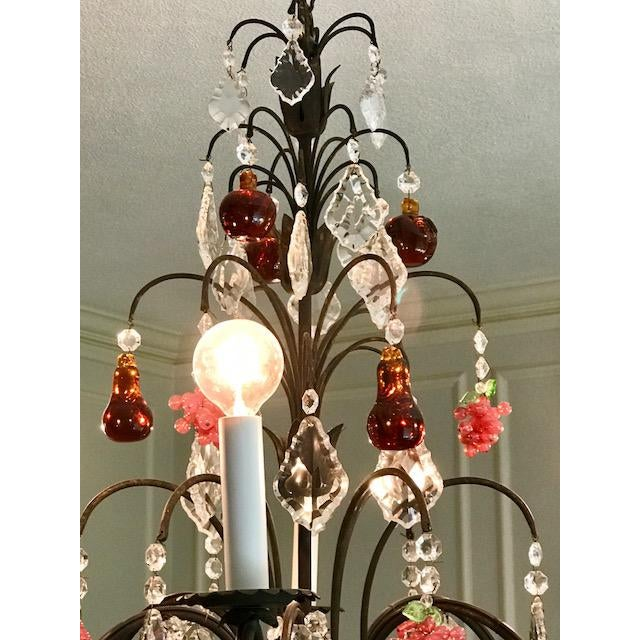Dark Bronze Crystal Chandelier - Image 10 of 11