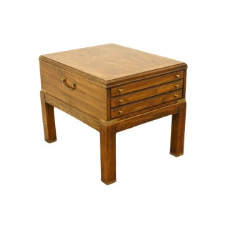 20th Century Contemporary Lane Furniture Bookmatched Walnut End Table For Sale