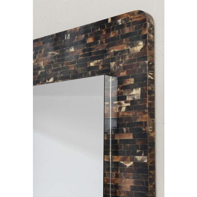 Tessellated Horn Wall-Mounted Console Mirror For Sale - Image 4 of 10