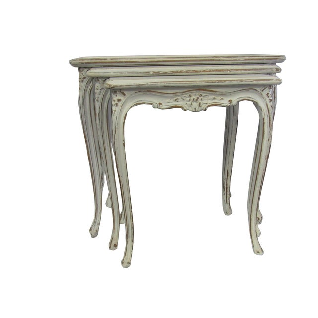 White Zinnia Nesting Tables Set Of 3
