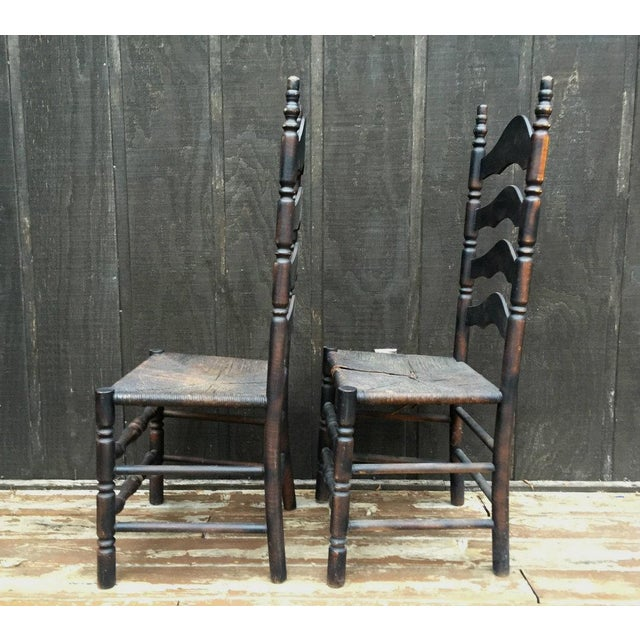 French Farmhouse Ladderback Chairs - Set of 4 For Sale - Image 4 of 11