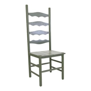 Farmhouse Americana Hardwood Ladderback Chair