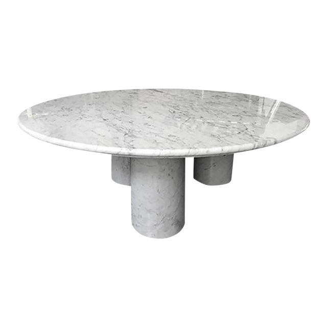 "1970s Mario Bellini Carrera Marble ""Il Colonnato"" Coffee Table For Sale"