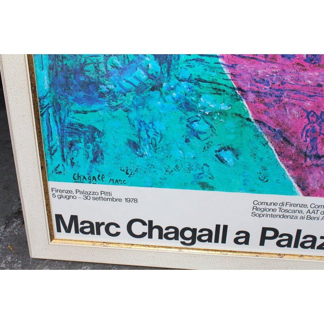 1978 Chagall Exhibition Poster For Sale - Image 4 of 7