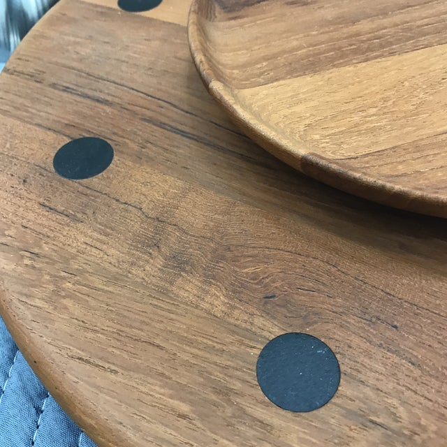 1980s 1980s Mid-Century Modern Danish Lazy Susan Tray For Sale - Image 5 of 11