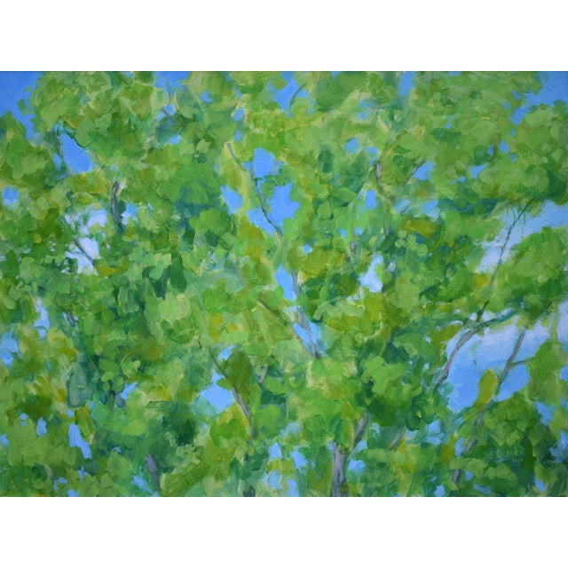 """2010s Contemporary Painting, """"Treetops Painting"""" by Stephen Remick For Sale"""