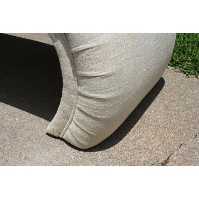 Milo Baughman Style Waterfall Upholstered Bench - Image 7 of 9