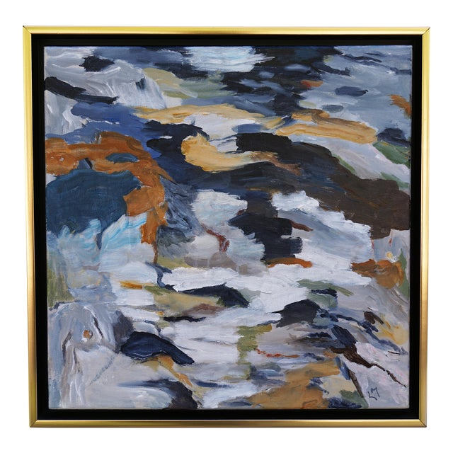 """Laurie MacMillan """"First Thaw"""" Abstract Painting For Sale"""