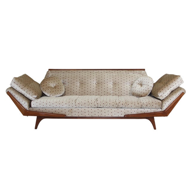 Mid Century Sofa Inspired by Adrian Pearsall Made by Rowe For Sale