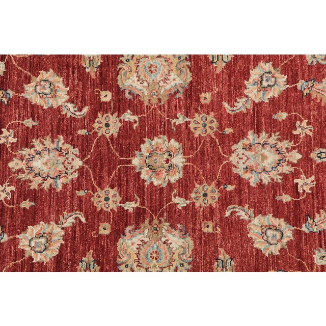 Islamic Wool Hand Knotted Pakistan Rug 4′4″x 6′4″ For Sale - Image 3 of 4