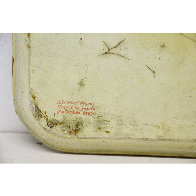 1940s Occupied Japan Papier Mache Tray For Sale In Richmond - Image 6 of 7