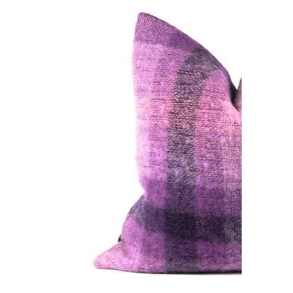 Throw pillow that's soft to the touch, with texture that pops! Professionally crafted pillow featuring a vintage, mohair...