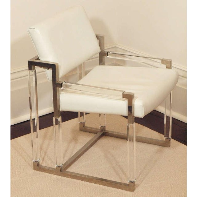 "Mid-Century Modern Charles Hollis Jones ""Metric Line"" Chair & Ottoman - A Pair For Sale - Image 3 of 11"