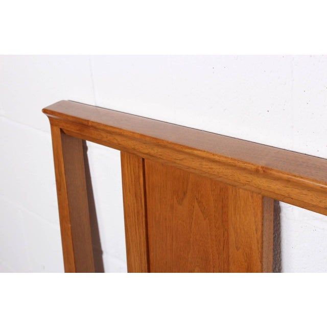 1950s Bleached Mahogany Headboard by Edward Wormley for Dunbar For Sale - Image 5 of 10