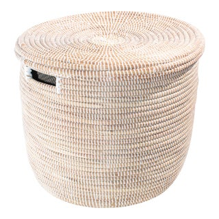 Coiled White Dou Basket For Sale