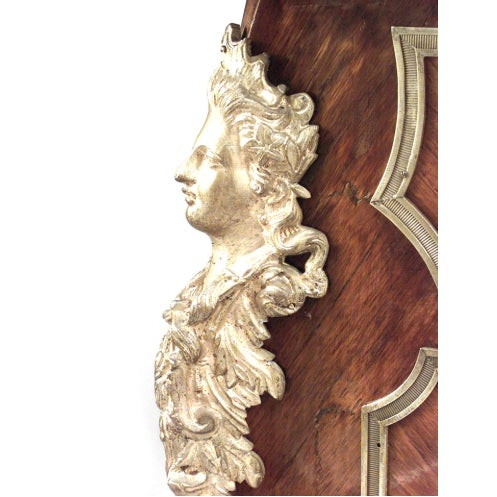 19th Century 19th Century French Louis XV Style Bronze-Trimmed Kingwood Desk For Sale - Image 5 of 8