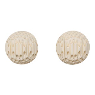 An Exceptional Pair of Spherical Wall Sconce by Rougier Canada 1970s For Sale