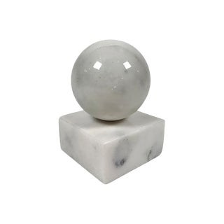 Stone Orb Sculpture For Sale