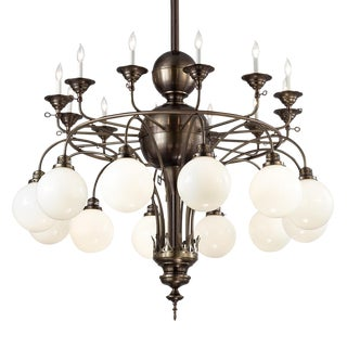 Historic Replica Gas Electric Chandelier For Sale