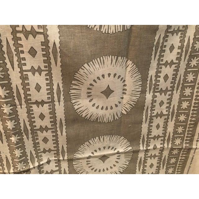 Tan Mary McDonald's Bora Bora Fabric - 1.5 Yards Schumacher Fabric For Sale - Image 8 of 8
