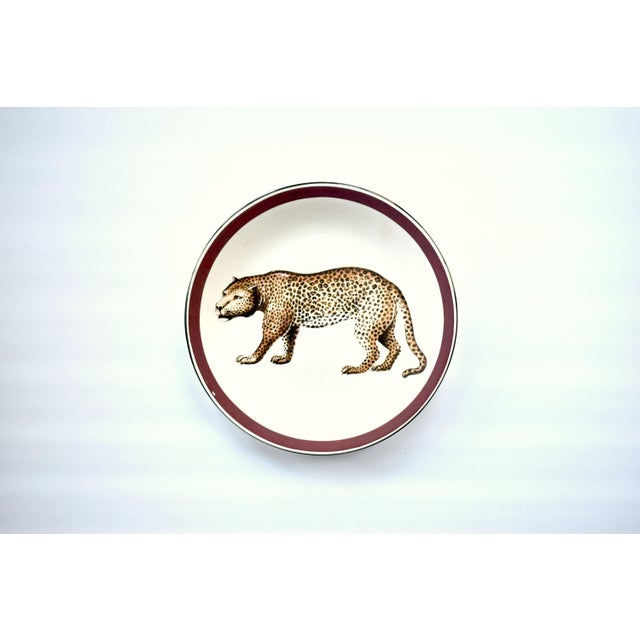 Italian Vintage Italian Mottahedeh Leopard Plate For Sale - Image 3 of 5