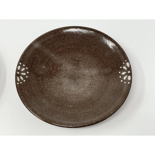 Traditional Hand Made Earthenware Lizella Clay Accent Soap Dish Small Accent Plates - a Pair For Sale - Image 3 of 7